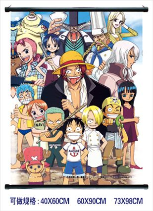 Onepiece Wall Scroll Anime Poster Convention Size